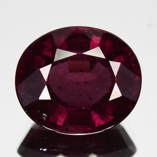 4.16 Cts Natural Purple Pink Garnet Oval Cut Mozambique
