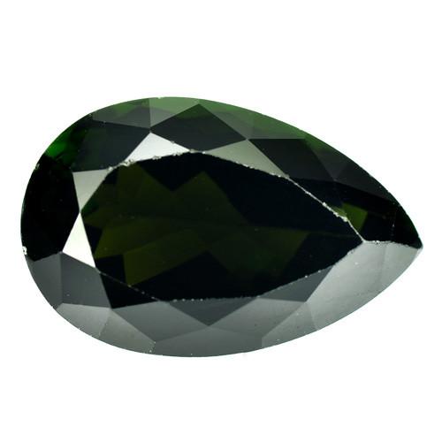 6.80 Cts Natural Dark Green Tourmaline Pear Cut Mozambique