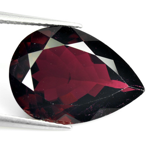 6.51 Cts Natural Deep Red Tourmaline Pear Cut Mozambique