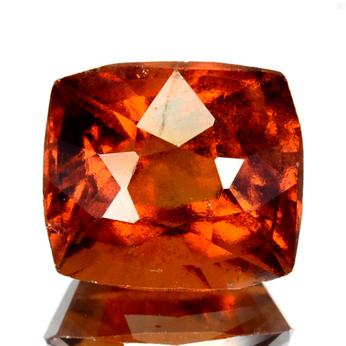 3.19 Cts Natural Hessonite Garnet Cinnamon Orange Cushion Cut Sri Lanka