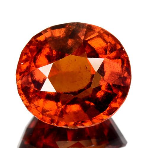 3.82 Cts Natural Hessonite Garnet Cinnamon Orange Oval Cut Sri Lanka