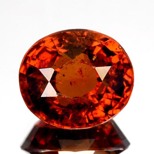 2.99 Cts Natural Hessonite Garnet Cinnamon Orange Oval Cut Sri Lanka