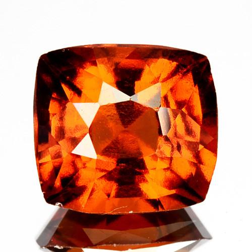 2.82 Cts Natural Hessonite Garnet Cinnamon Orange Cushion Cut Sri Lanka