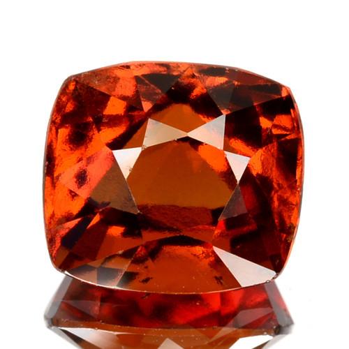 3.60  Cts Natural Hessonite Garnet Cinnamon Orange Cushion Cut Sri Lanka