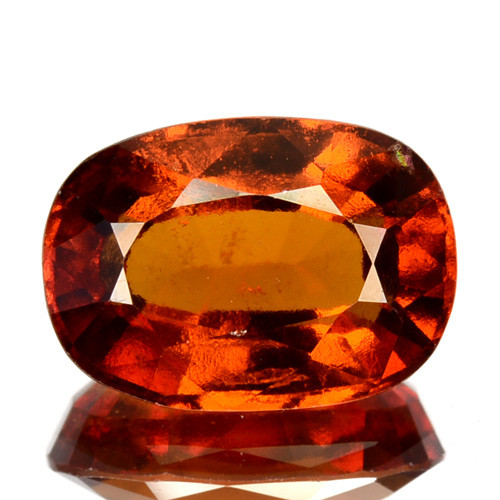 3.52 Cts Natural Hessonite Garnet Cinnamon Orange Oval Cut Sri Lanka