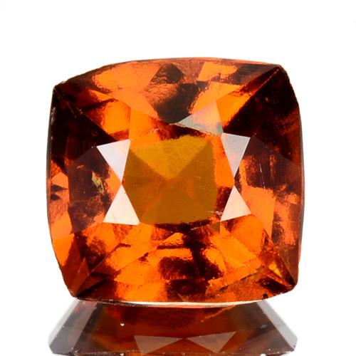 2.71 Cts Natural Hessonite Garnet Cinnamon Orange Cushion Cut Sri Lanka