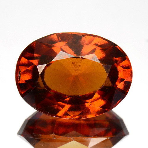 4.54 Cts Natural Hessonite Garnet Cinnamon Orange Oval Cut Sri Lanka