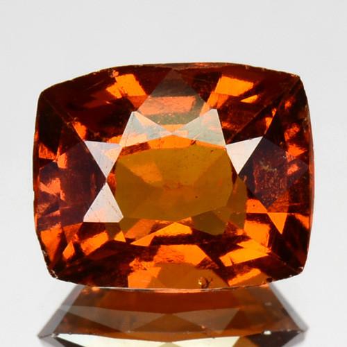 2.84 Cts Natural Hessonite Garnet Cinnamon Orange Cushion Cut Sri Lanka