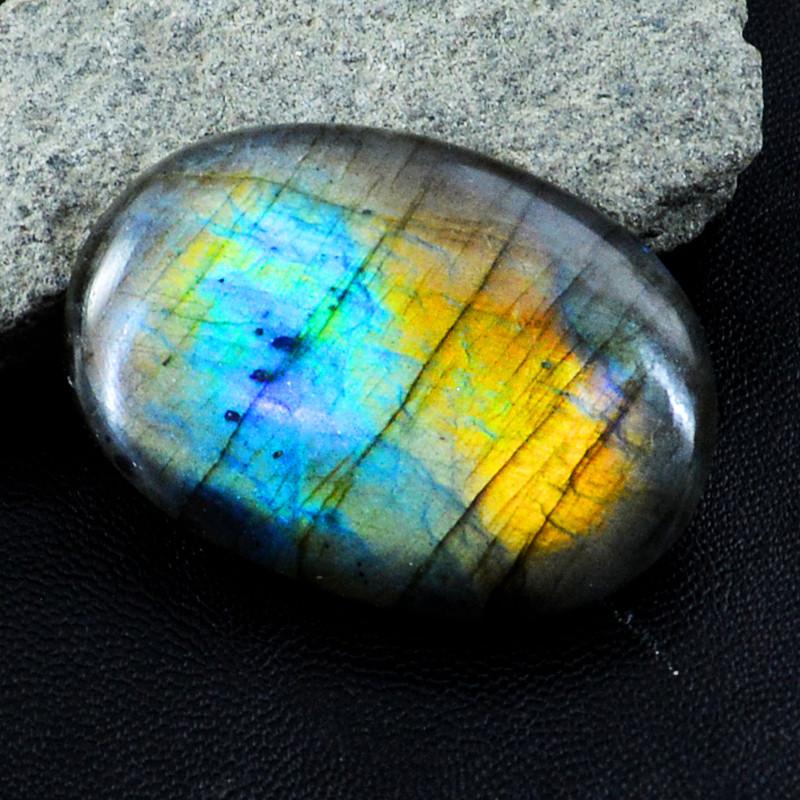 Genuine 115.00 Cts Blue & Golden Flash Labradorite Gem