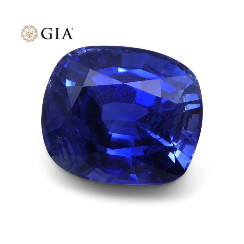 3.54 ct Blue Sapphire Cushion GIA Certified Unheated