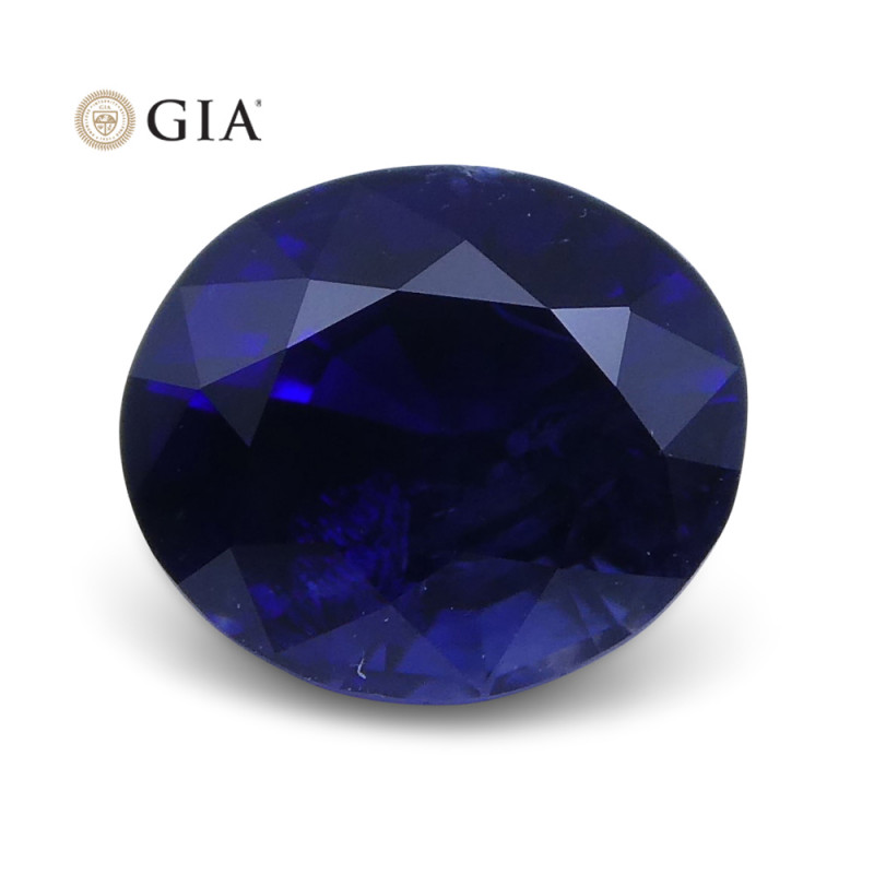 1.07 ct Blue Sapphire Oval GIA Certified Unheated