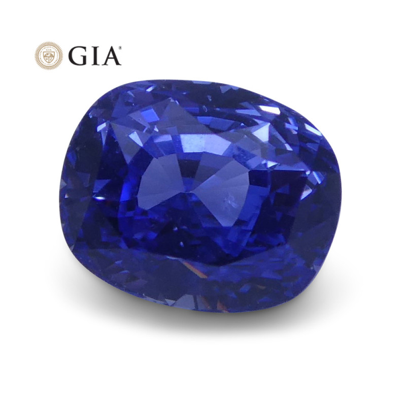 1.63 ct Blue Sapphire Cushion GIA Certified Unheated, Sri Lanka