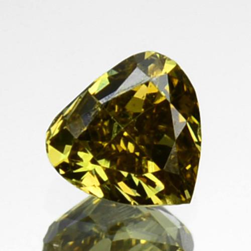 ~UNTREATED~ 0.16 Cts Natural Greenish Yellow Diamond Heart mix Africa