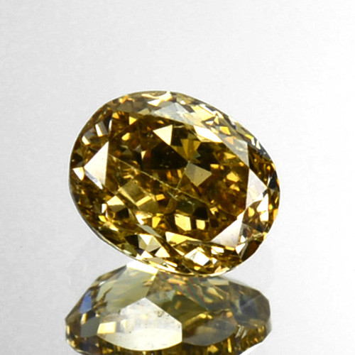 ~UNTREATED~ 0.24 Cts Natural Yellow Diamond Oval Africa