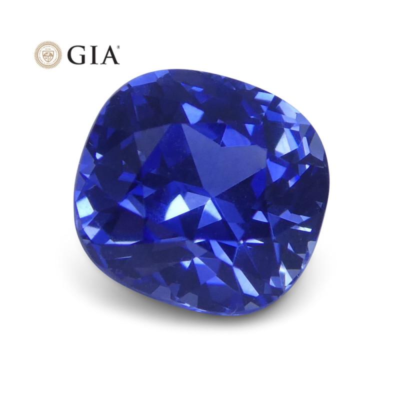 1.61 ct Blue Sapphire Cushion GIA Certified Sri Lanka