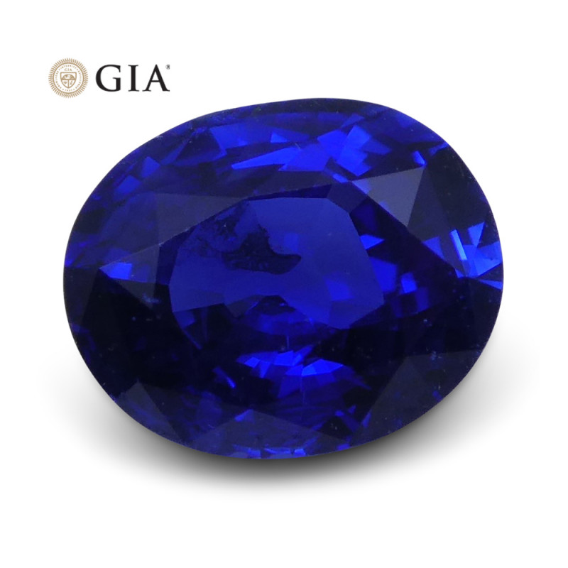 1.18 ct Blue Sapphire Oval GIA Certified-$1 NR Auction, Free Ship