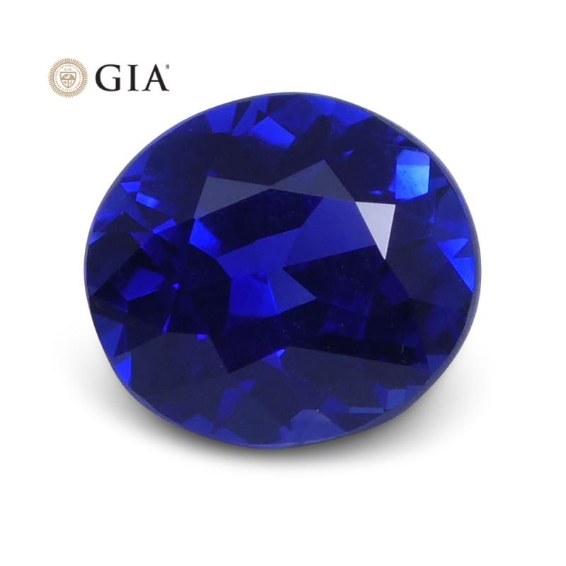 1.10 ct Blue Sapphire Oval GIA Certified Sri Lanka