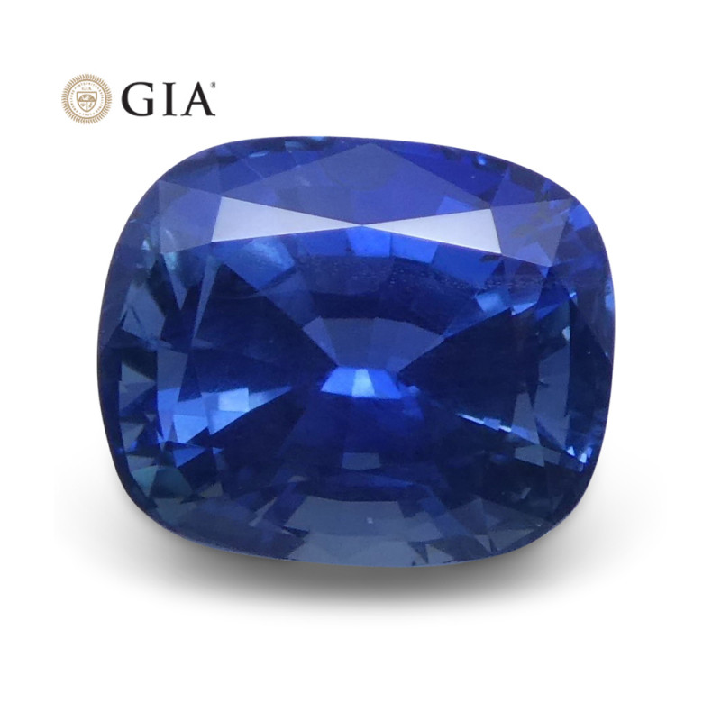 1.69 ct Blue Sapphire Cushion GIA Certified Unheated