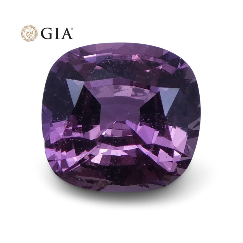 1.38 ct Pink Sapphire Cushion GIA Certified Unheated