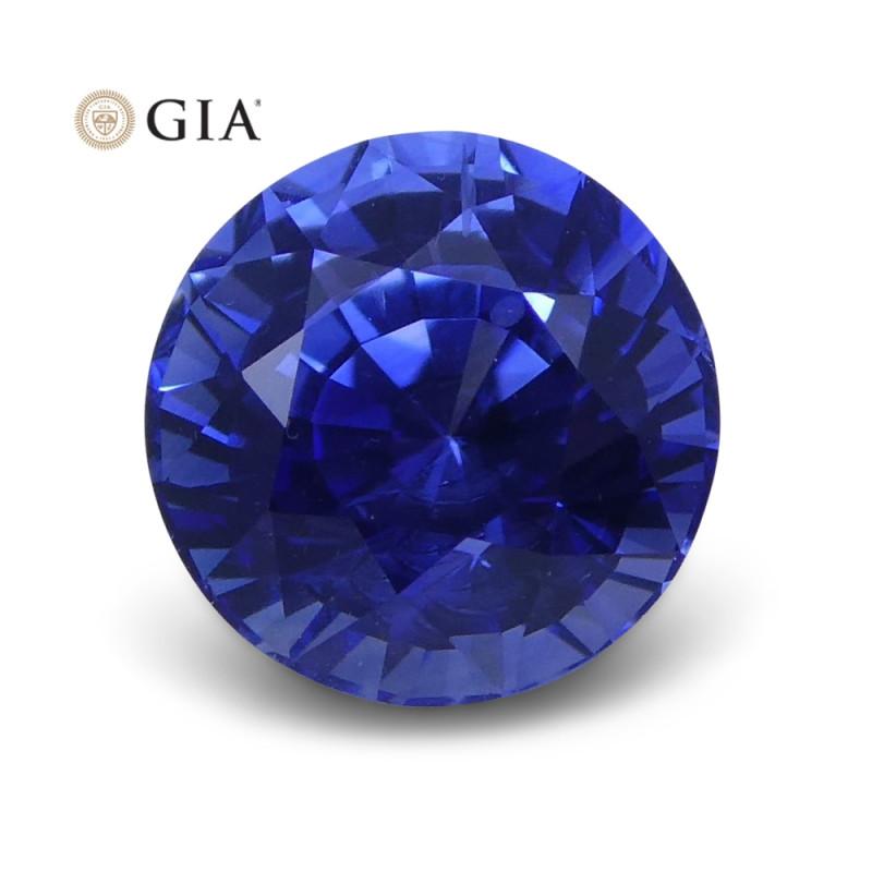 1.41 ct Blue Sapphire Round GIA Certified Sri Lanka