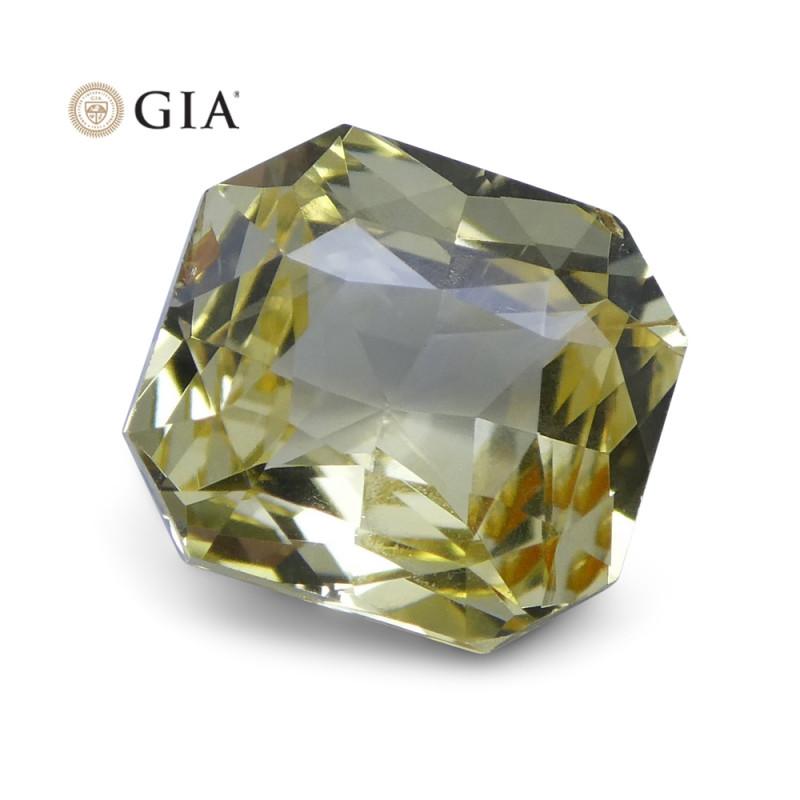 1.73 ct Yellow Sapphire Octagonal GIA Certified Unheated, Sri Lanka