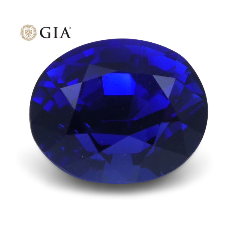 1.29 ct Blue Sapphire Oval GIA Certified Unheated, Sri Lanka