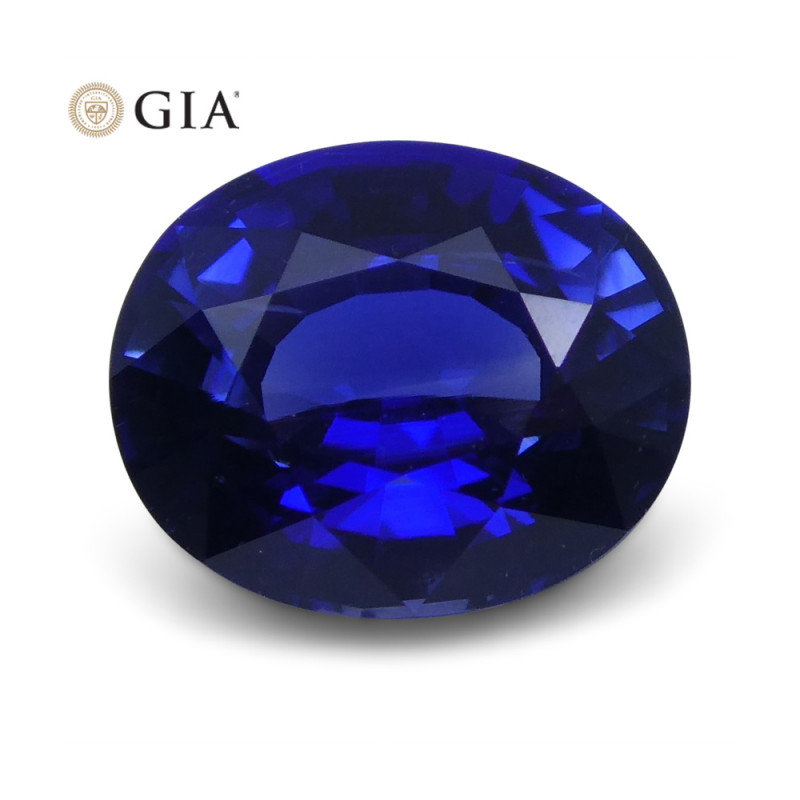 1.25 ct Blue Sapphire Oval GIA Certified
