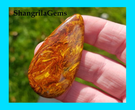 53mm 48ct Red Pietersite VIDEO LINK red drop shape cabochon