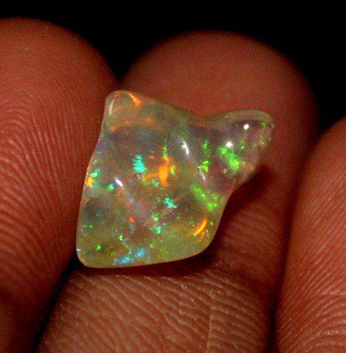2.20 ct Natural Ethiopian Welo Fire Freeform Welo Opal Carvin 220