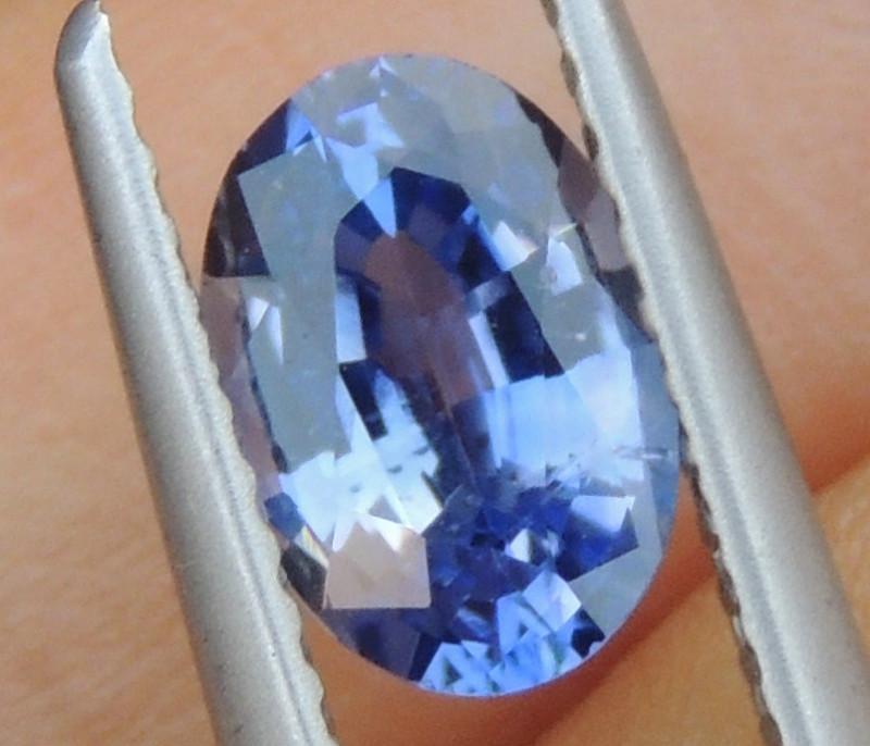 1.14cts No Heat, Certified  Sapphire, Top Cut