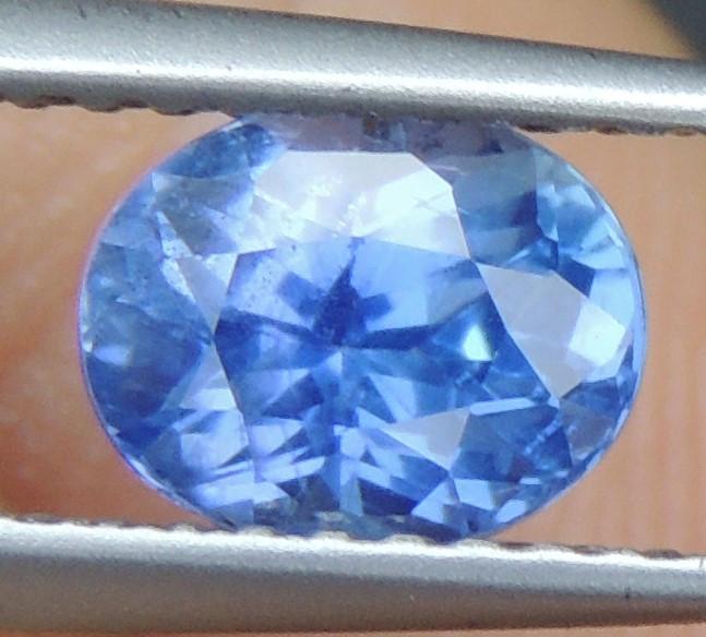 1.20cts No Heat, Certified  Sapphire, Top Cut