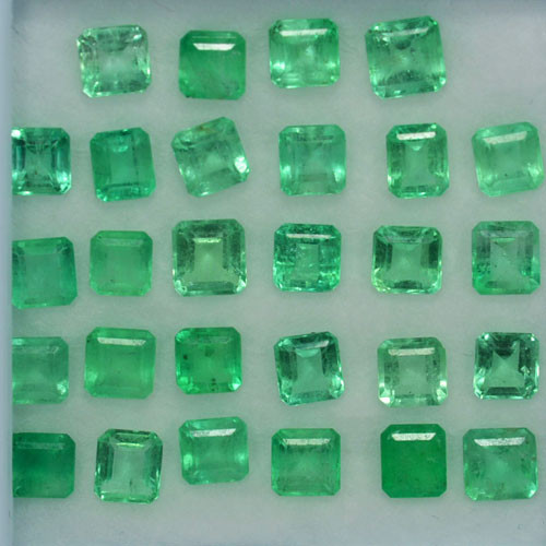 8.85Cts Lovely Green Natural Colombian Emerald Square Parcel