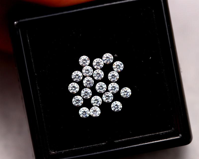 2.0mm Natural F Colour VS Loose Diamond 20pcs Lot