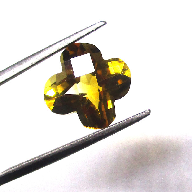 2.81cts Checker Board Flower Cut Citrine (better than what the photos show)
