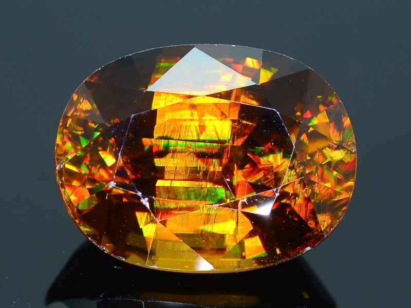 Imperial Sphene 8.02 ct AAA Brilliance Mozambique  Sku-31