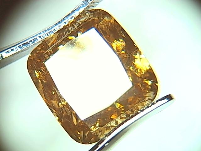 Huge Certified 3.08ct  Fancy Deep yellowish Brown Diamond , 100% Natural Un