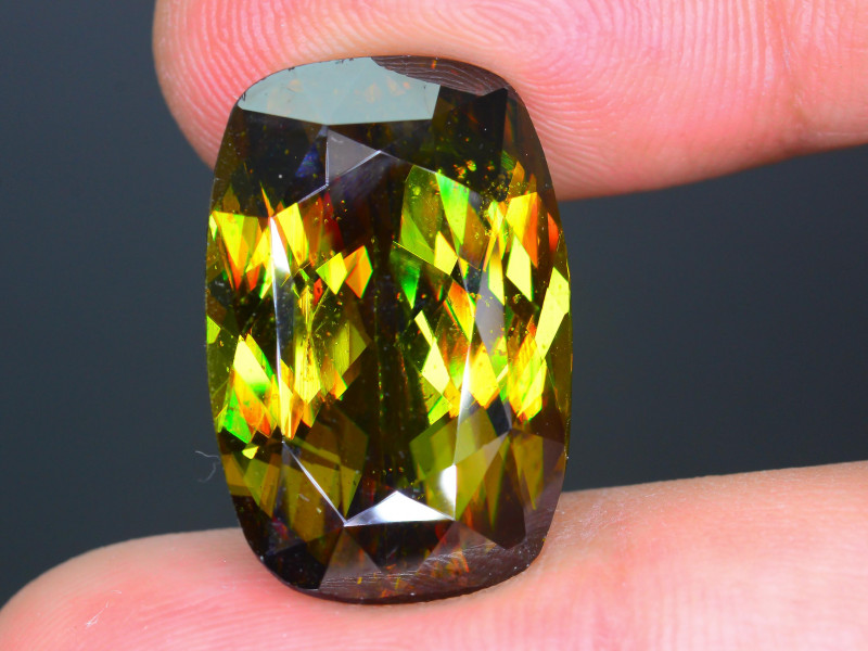 Imperial Sphene 18.89 ct AAA Brilliance Mozambique Sku-30