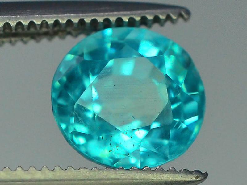 Great Luster 1.40 ct Rarest Neon Blue Color Apatite