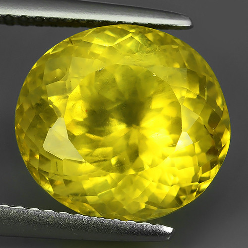 8.25 CTS EXQUISITE TOP YELLOW COLOR UNHEATED APATITE GEM!!