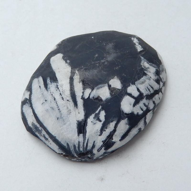 Chrysanthemum stone Gemstone Polished Black Healing Stone H3669