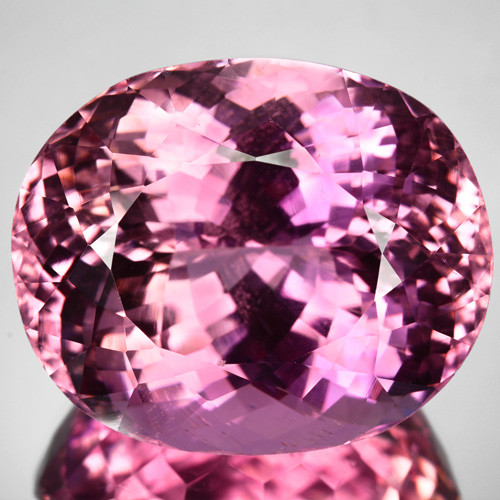 ~BEAUTIFUL~ 83.14 Cts Natural Pink Kunzite Oval Cut Afghanistan