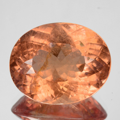 ~BEAUTIFUL~ 7.52 Cts Natural Bright Peach Tourmaline Oval Mozambique