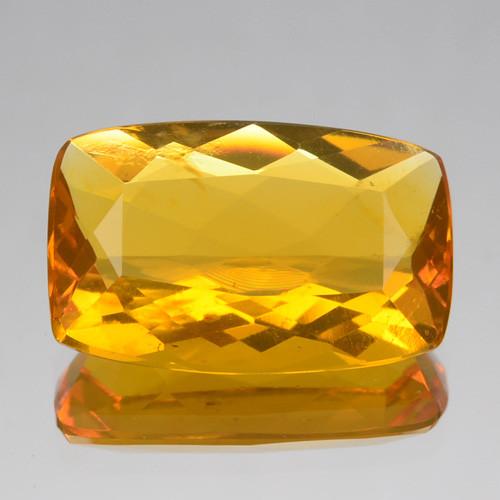 2.59 Cts Natural Mexican Orange Fire Opal Cushion Cut