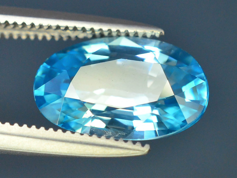 AAA Brilliance 3.40 ct Blue Zircon Cambodia