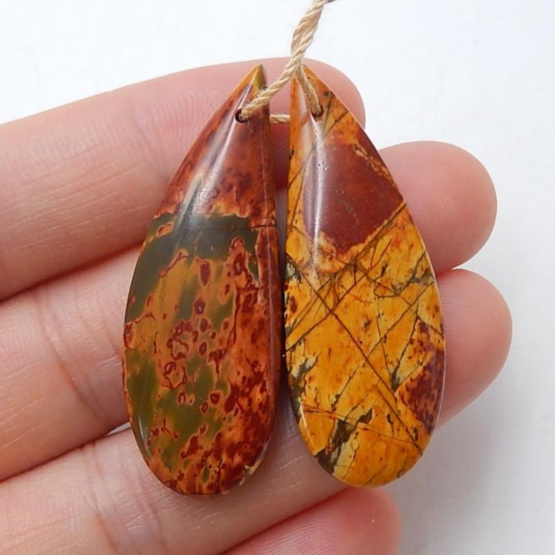 Multi colorJasper Earrings Gemstone earrings beads, stone for earrings maki