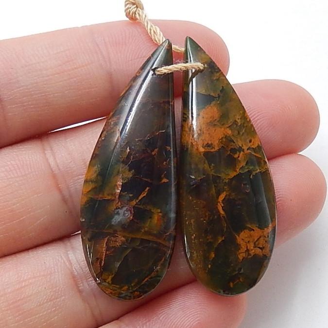 Green opal Earrings Gemstone beads, stone for earrings making B511