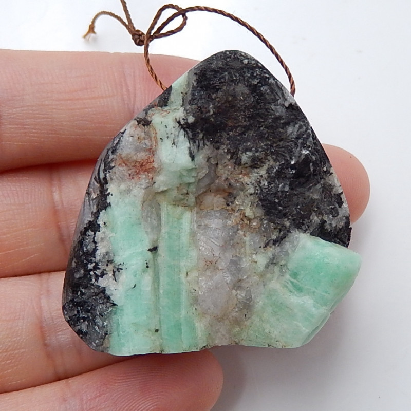 New Emerald Gemstone Bead ,Emerald Pendant ,Green Emerald B516