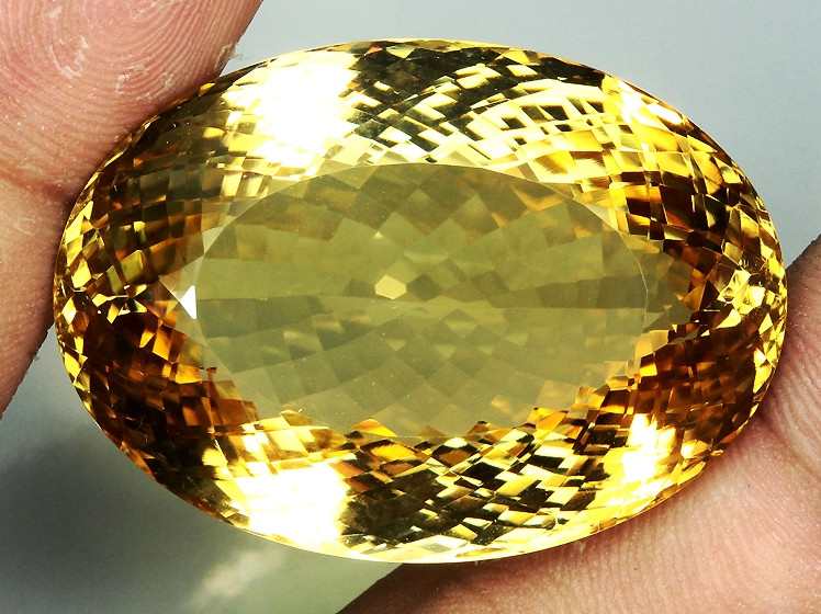 109.07 Ct. 100% Natural Top Yellow Golden Citrine Unheated Brazil Big!