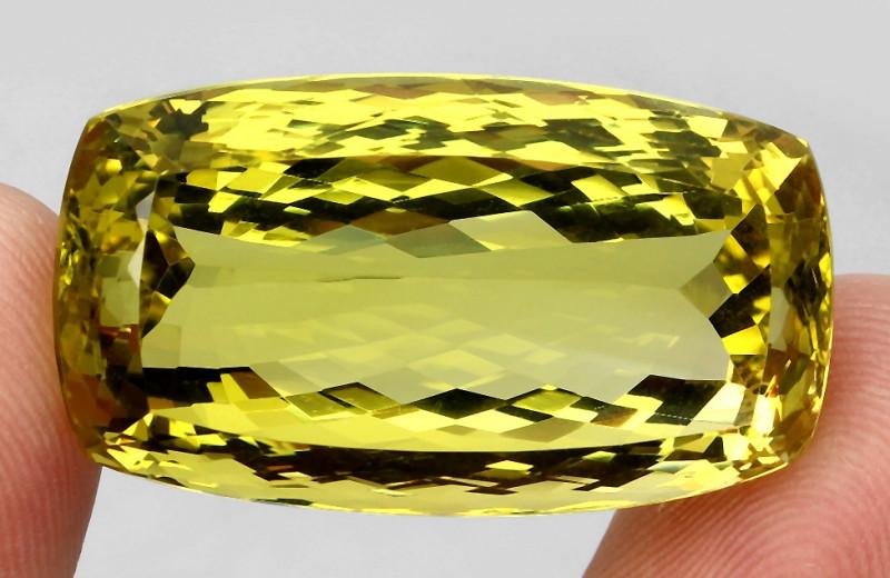 82.98ct. 100% Natural Top Yellow Lemon Quartz Brazil Unheated