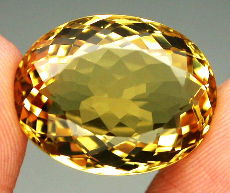 18.44ct. 100% Natural Unheated Top Yellow Golden Citrine Brazil